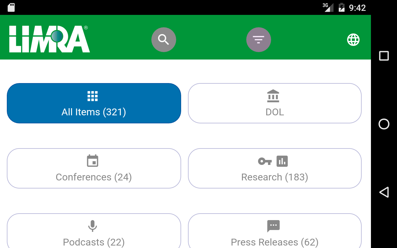 LIMRA Mobile- screenshot