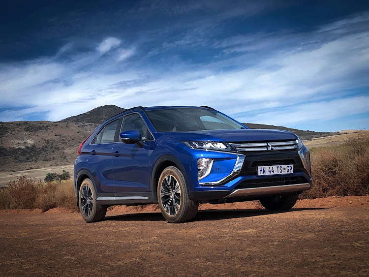 Striking coupe-like roofline gives the Eclipse Cross some posing power. Picture: SUPPLIED