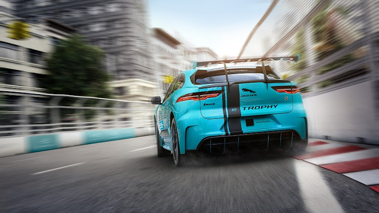 The eTROPHY will feature 20 identical Jaguar I‑PACE race cars and the championship will be held in 10 cities. Picture: SUPPLIED