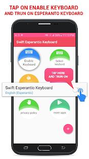 Swift Esperantio Keyboard - náhled
