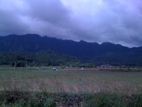 Photo: Indonesia = rice paddies, the jungle and storm clouds