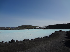 Photo: The Blue Lagoon was formed in 1976 by extra water coming out of a geothermal power plant which you can see in the background
