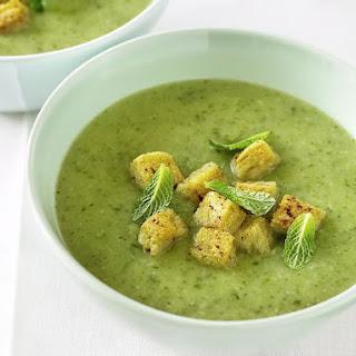 Chilled Mint Zucchini Soup.