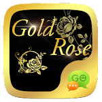 (FREE) GO SMS GOLD ROSE THEME Icon
