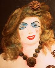 Photo: Antonio Berni Ramona modèle -detalle- 1973. Pintura, adornos metálicos y pelo sintético sobre madera. BAM - Musée des Beaux-Arts, Mons, Bélgica. Expo: Antonio Berni. Juanito y Ramona (MALBA 2014-2015)