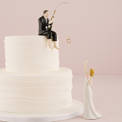 hooked on love wedding topper