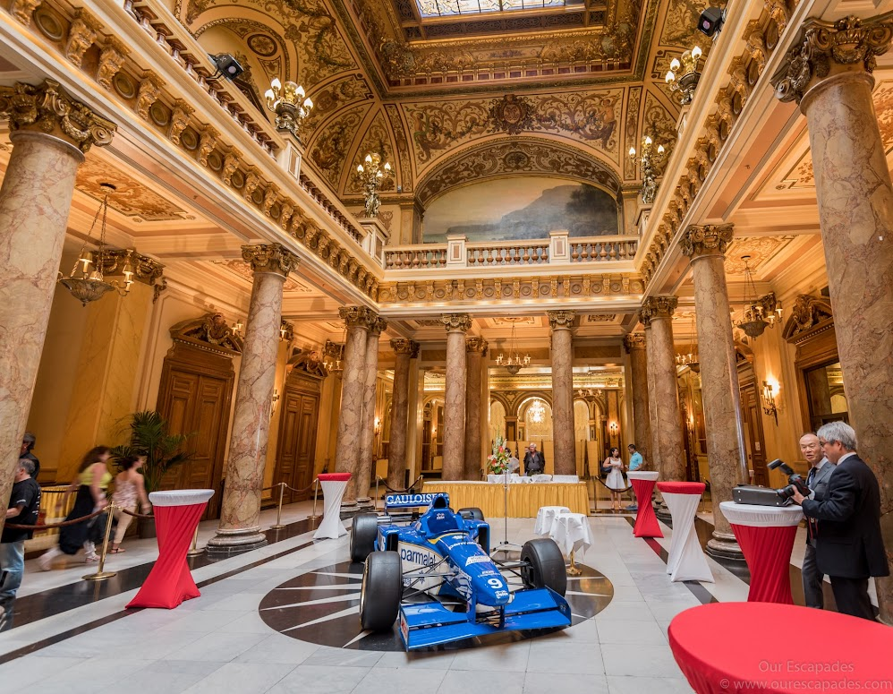Inside the Monte Carlo Casino... It's known for the lavish interior decor