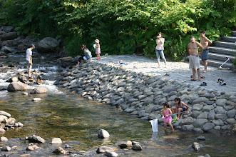 Photo: 朝里川で川遊び