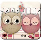 Valentine Owls Love Keyboard Theme