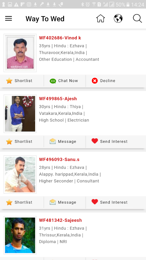 Way To Wed - Matrimony App- screenshot
