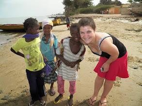 Photo: Marianne and local children