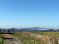 Colline sotto Podere Santa Pia con ampia vista sulla Maremma Grossetana