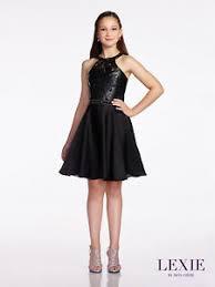 NEW Girl'S LEXIE Mon Cheri TWEEN BLACK Floral Applique Party DRESS ...