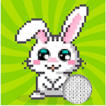 Color by Number - Pixel Art coloring book. Relax Icon