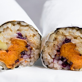Sweet Potato Sushi Burrito [Vegan].