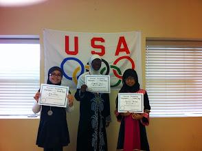 Photo: Hula Hoop Illyanah (1st) Aila (2nd) Minahil (3rd)