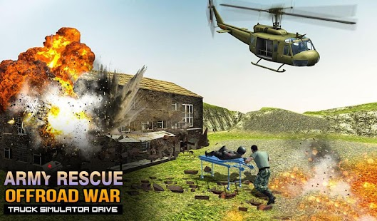 Army Rescue Offroad War Truck Simulator Drive - náhled