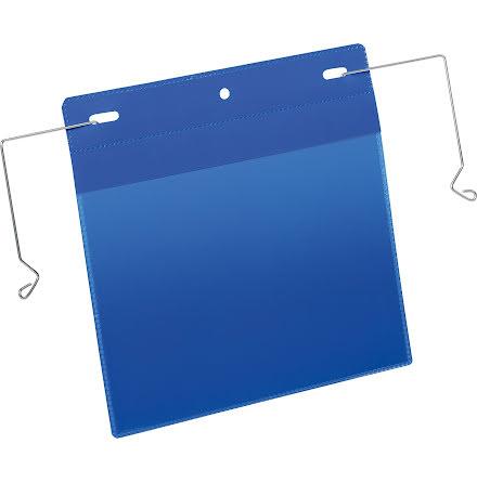 Plastficka A5L trådbygel blå
