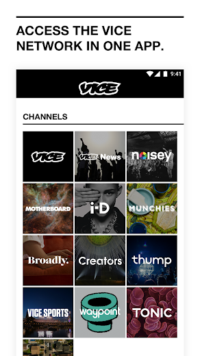 Screenshot 0 for VICE's Android app'