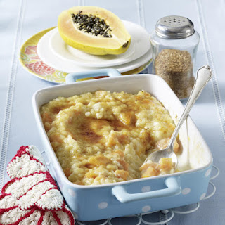 Papaya Rice Pudding