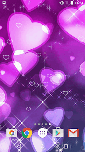 Beautify Your Phone With Purple Hearts Live Wallpaper Get This Love 2015 For AndroidTM And Enjoy Watching Pretty Floating
