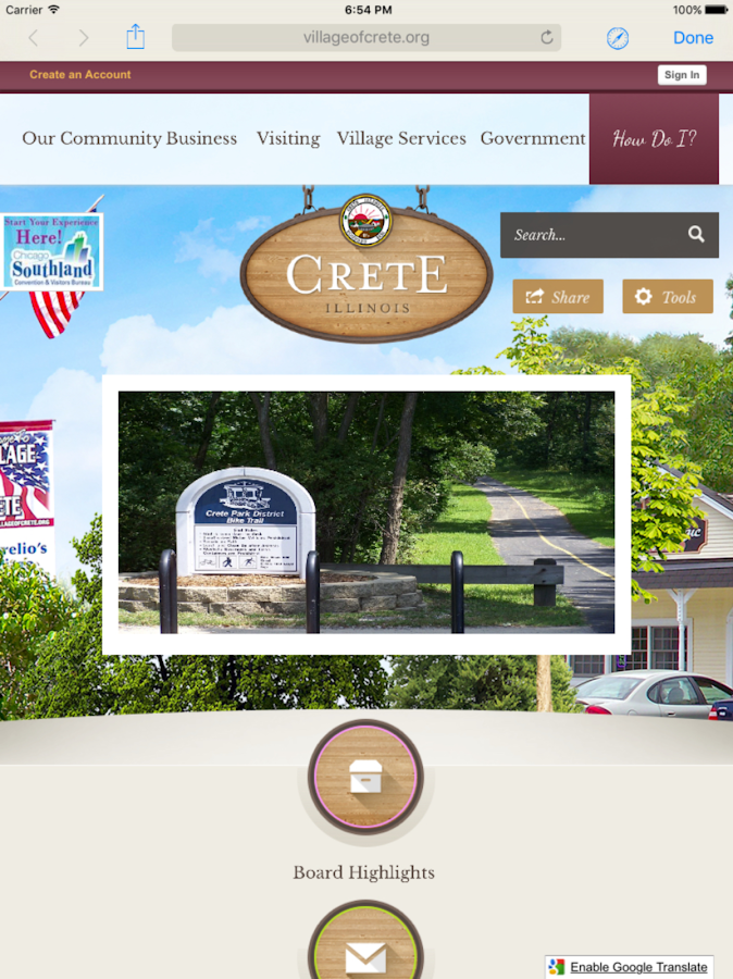 Village of Crete, IL.- screenshot