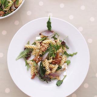 Warm Goat's Cheese, Red Onion and Walnut Pasta Salad (Veggie).