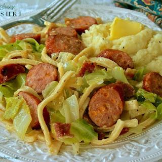 Bacon & Cheddar Sausage Halushki