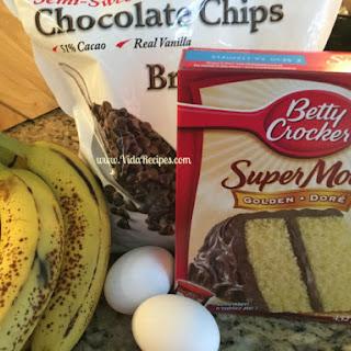 Four Ingredient Banana Bread.