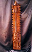 Photo: 123 Borracho. 110 x 20 cm.  Para leer algo más en relación con esta obra ir al blog: https://tallaenmadera-woodcarving-esculturas.blogspot.com.es/2018/01/borracho.html