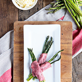 Beef and Swiss Roasted Asparagus Bundles