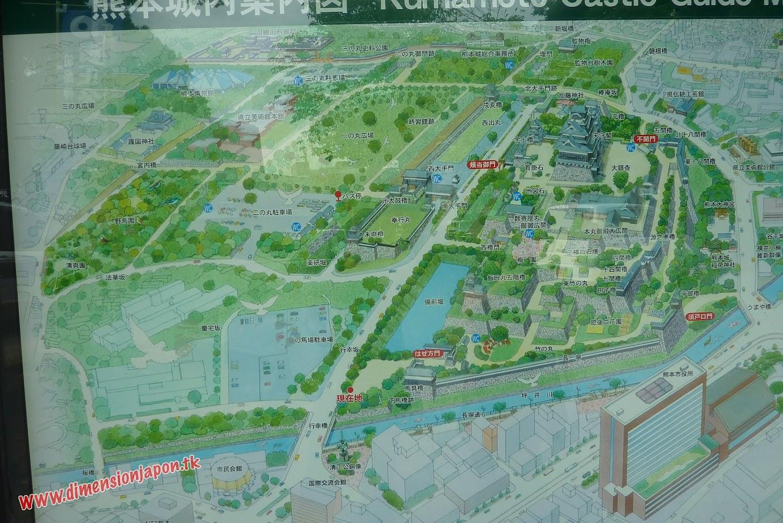 P1060952 Mapa del  castillo  (Kumamoto) 15-07-2010