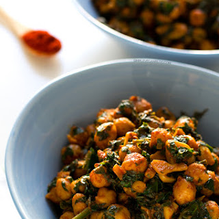 Spanish Spinach with Chickpeas.