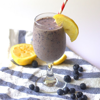 Creamy Almond Butter Lemon Blueberry Smoothie