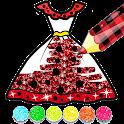 Glitter Ladybug dress Coloring Book icon