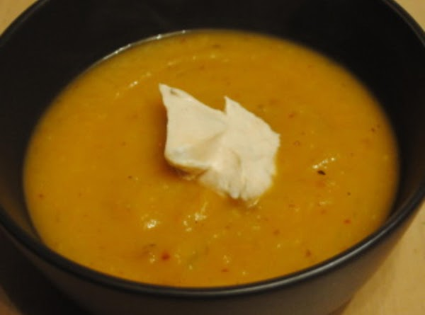 Butternut Squash Soup With Chipotle Cream Recipe