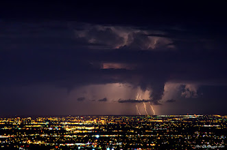 """Photo: """"Lightning Over Denver II""""  My entry into today's #skysunday theme. Colorado thunderstorms are beautiful things and a great spot to photograph them is from atop of Lookout Mountain in Golden. Here you can see the entire metropolitan area of Denver and all the way out on to the eastern plains. Quite the vantage point and view to say the least and I know that I am really looking forward to getting back up here once again this coming spring & summer to be able to photograph it all once again. I hope you all like it. John  #plusphotoextract #Colorado #nature #weather #cowx #lightning"""