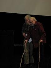 Photo: Don Olson escorts Prof. David Noble, Historian