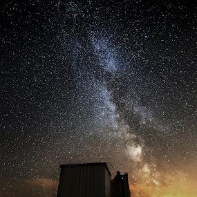 Stargazer by Jocke Mårtensson - Landscapes Starscapes ( milkyway, night photography, night scene, stars, night sky, nightscape,  )