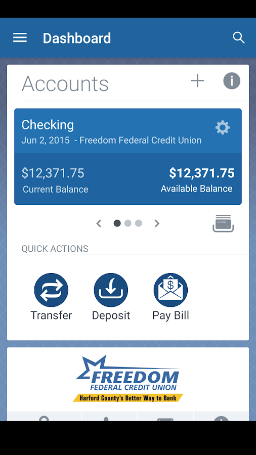 Freedom FCU Mobile Banking- screenshot
