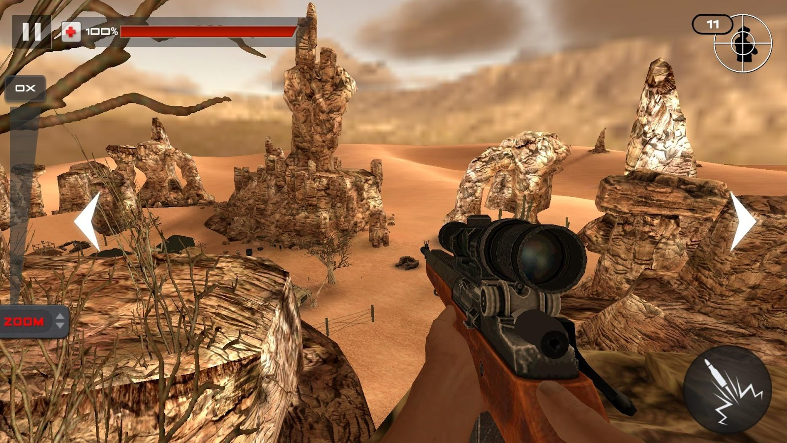 Screenshots of Mountain Sniper Shooting 3D for iPhone