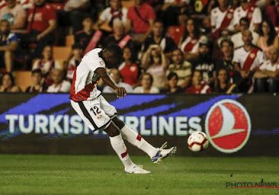 ? Liga : le prochain adversaire du Standard s'impose difficilement, Imbula en action avec le Rayo Vallecano