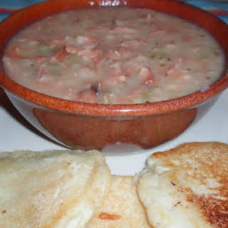 Pressure Cooker Navy Bean Soup With Ham.