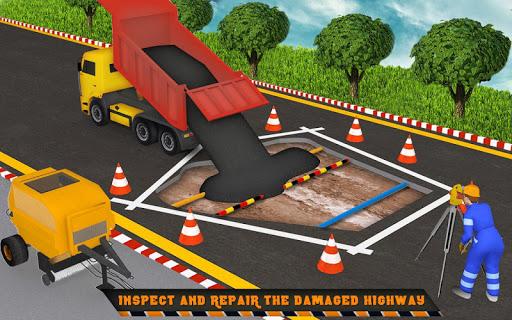 Highway Construction Road Builder 2019- Free Games 2 screenshots 11