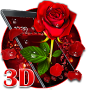 3D valentine love rose theme