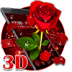 3D valentine love rose theme Icon