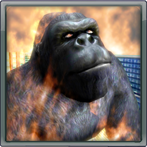 Gorilla On Fire!!