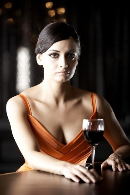 Dia Mirza biography, actress with wine glass, Dia Mirza with wine