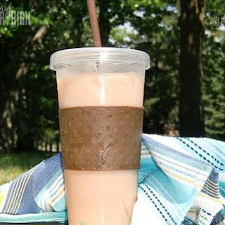 Refreshing Iced Mocha Coffee Drink.
