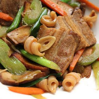 Hakka-Style Stir-Fry with Pork and Squid.